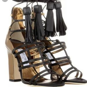 Jimmy Choo lace strappy sandals 40